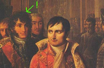 Napoleon welcoming army representatives on December 8th 1804 in Le Louvre. Clarke is among them.