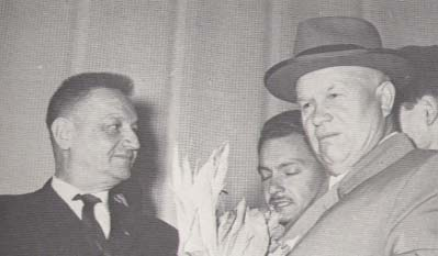 March 1960. Philippe Lamour and Nikita Krushchev