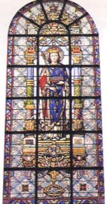 Stained-glass window featuring St-Louis